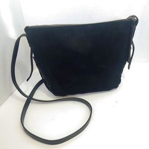 Madewell black suede crossbody handbag